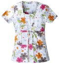 FILIPINA ESTAMPADA Shaped Square Neck Top in Sew And Grow 100% algodón